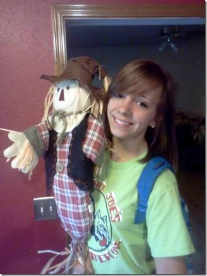 with scarecrow