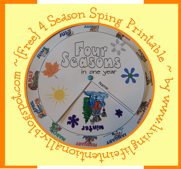 Free printable four seasons spin