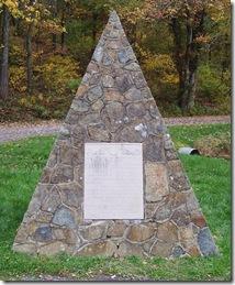 Sic Juvat Transcendere Montes monument stone next to Marker D-10