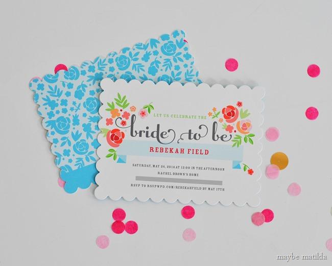 Floral bridal shower invites