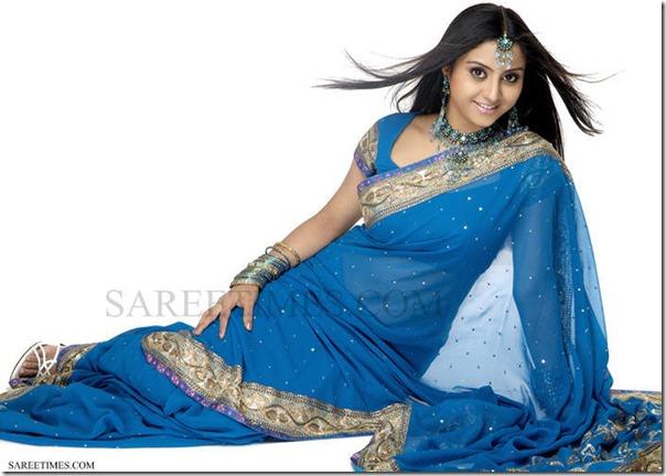 Sunitha Varma_Blue_Sari