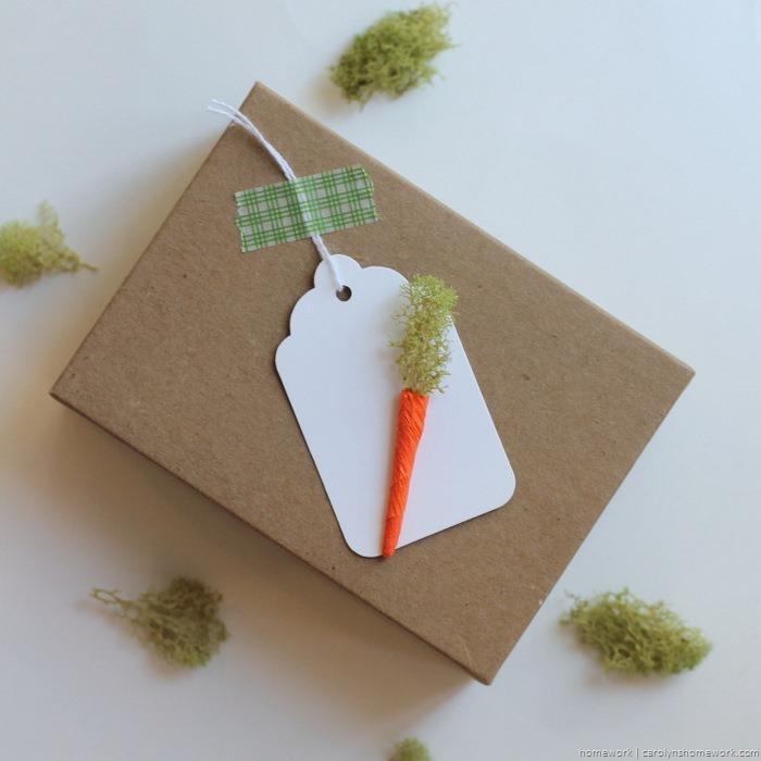 Miniature Crepe Paper Carrots - homework (6)
