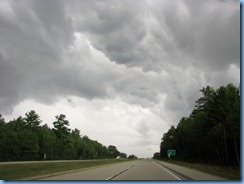 4877 Michigan - near Kinross, MI - I-75 - stormy skies