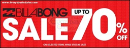 BILLABONG Year End Sale Branded Shopping Save Money EverydayOnSales