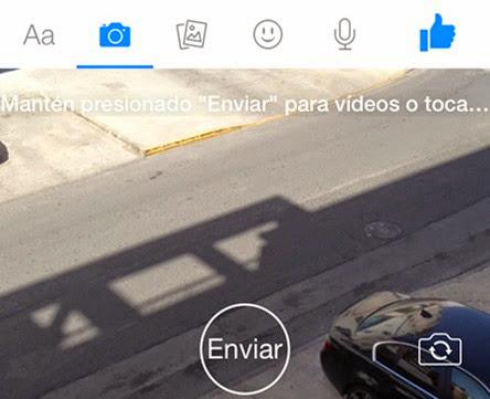 Enviar micro-videos instantáneos de Facebook Messenger