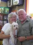 A local semi-retired couple wanted to meet the recovering pooch- Snowball seemed like just the pooch they were looking for- and they had lots of love to give!