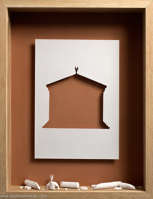 obras de arte em papel 3D origami Peter Callesen desbaratinando (11)