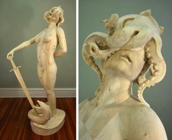 Esculturas surreiais  de Morgan 05