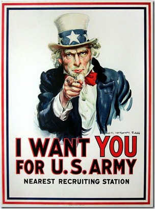 "The famous James Montgomery Flagg ""I Want You"" Army recruitment poster, from Gary Borkan posters, as part of Lifelines story on recruitment posters. Photo by Gary Borkan"