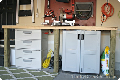 DIY workbench garage