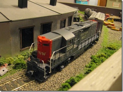 IMG_0441 Cotton Belt GP7 #3310 on My Layout on April 5, 2008