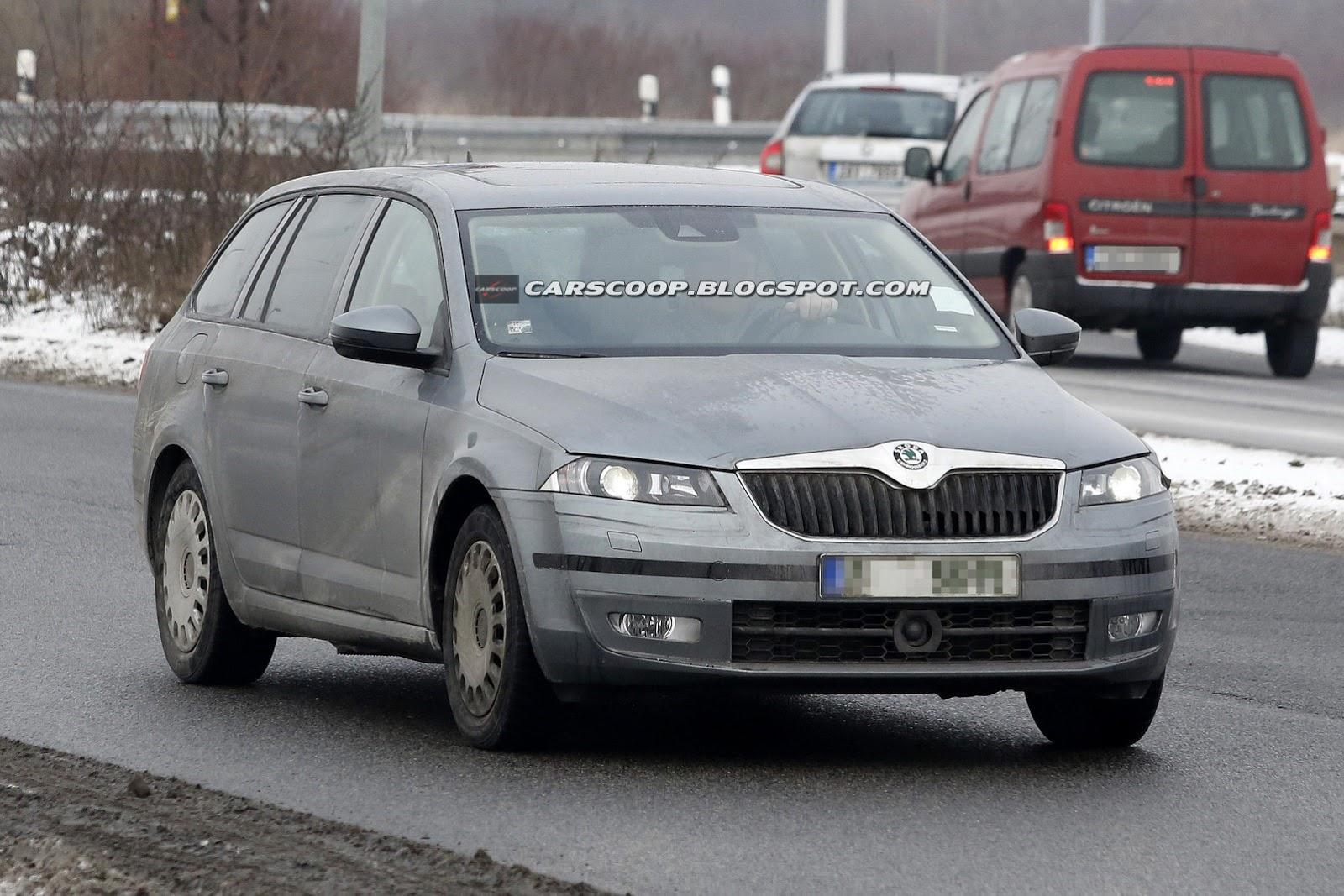 Spy Shots: New Skoda Octavia Combi Caught on Public Roads | Carscoop ...