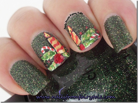 merry christmas nail art 2