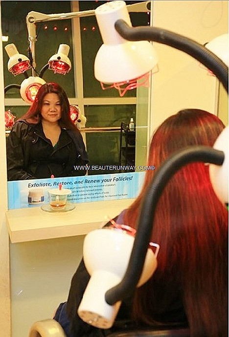 TrichoKare Head massage therapy infra red treatment to open up hair pores for better absorption of hair products, encourage blood circulation for a healthy scalp hair calming head massage therapy ensures deep penetration producrs
