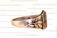 World war I silver Patriotic ring