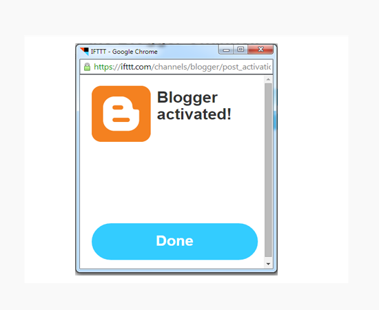 blogger-channel-activated-ifttt