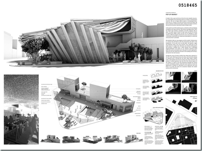 CASABLANCA_international architecture competition_AC-CA_Plaza de un Mercado Sustentable_Sustainable Market Square _Place d'un Marché Ecologique_Mencion de Honor_4