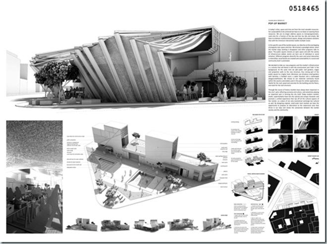 CASABLANCA_international architecture competition_AC-CA_Plaza de un Mercado Sustentable_Sustainable Market Square _Place d'un Marché Ecologique_Mencion de Honor_4