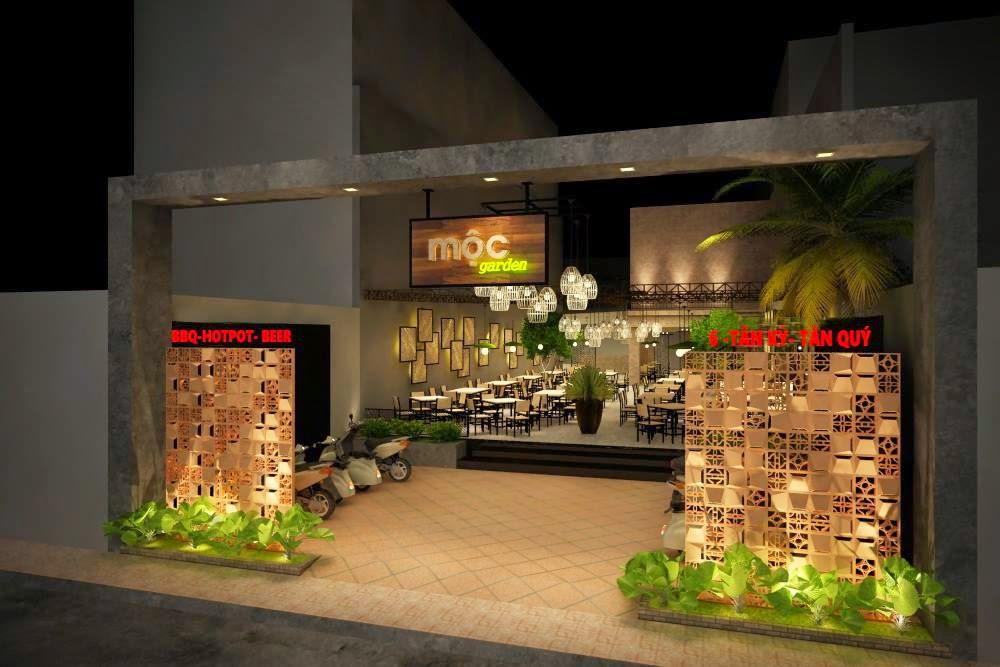 Mẫu thiết kế nhà hàng sân vườn