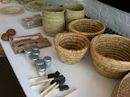 Here are several baskets from Greenhouse and Darr as well as utensils from The Conran Shop.