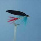 Kingfisher Butcher  Ogonek, tułów, owijka, skrzydelka - jak Butcher  Jeżynka – w oryginale piórko zimorodka, zastępczo błekitne szyjne pióro koguta