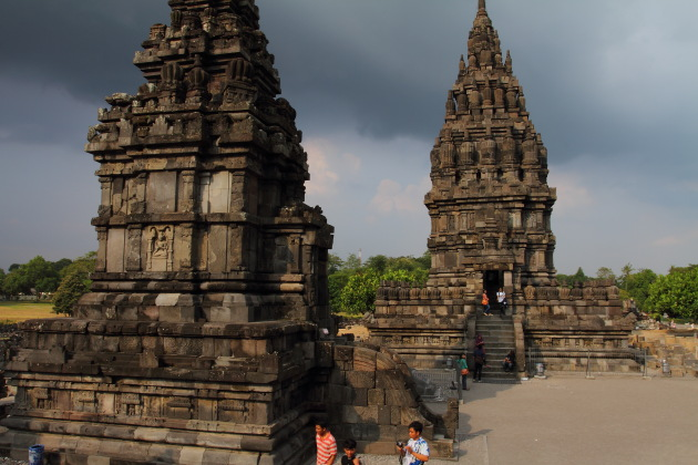 The mighty old Prambanan Hindu temples in Indonesia