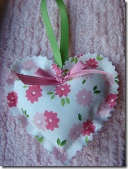 floral stuffed heart