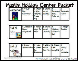 Muslim Holiday Packet - To Explain Ramadan and Eid to Kids
