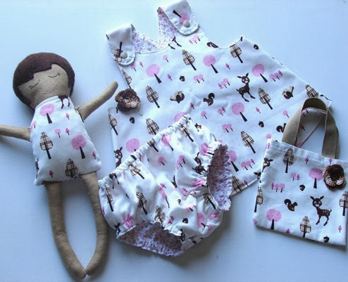 doll reversable pinafore nappy cover hand bag