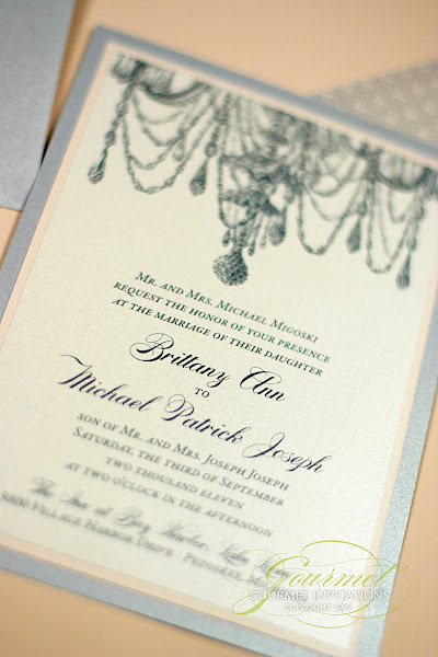 Brittany Michael Chandelier Invitations Gourmet Invitations – Michaels Custom Wedding Invitations