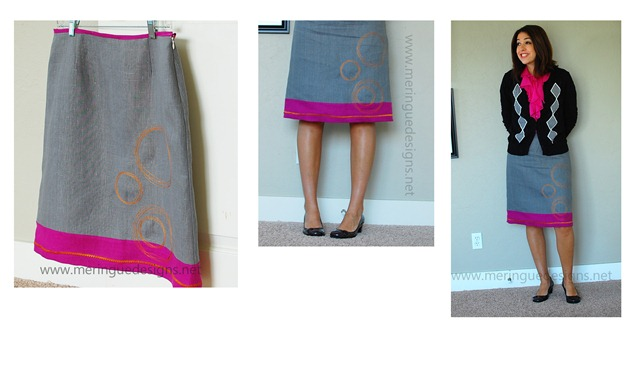 circles skirt collage