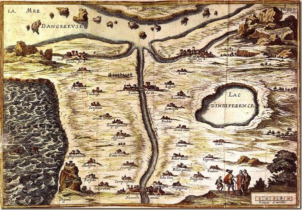 Carte du Tendre, XVIIème siècle, BNF