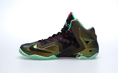 nike lebron 11 gr army slate 9 05 parachute gold Nike LeBron XI is Coming out on October 12th. New pics!