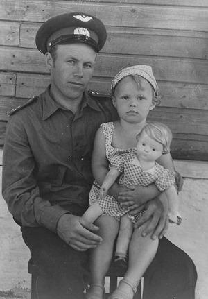 Папа, я и кукла Катька
