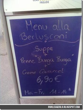 """""""Menù alla Berlusconi"""""""