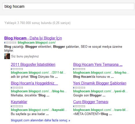 Blog Hocam'ın Artık Google Site Bağlantıları Var