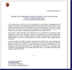 roma comunicato cessione Okaka