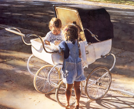 Steve Hanks, Where the Light Shines Brightest, акварель