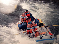 I was sixteen the first time that I was allowed to row all the way from Troutcreek to Maupin on the Deschusetts. This picture was taken at Boxcar rapids, one of the two largest on that stretch of river. White water rafting was a big summer tradition for us and at the time I felt like manning the oars all the way without help was a big coming of age experience.