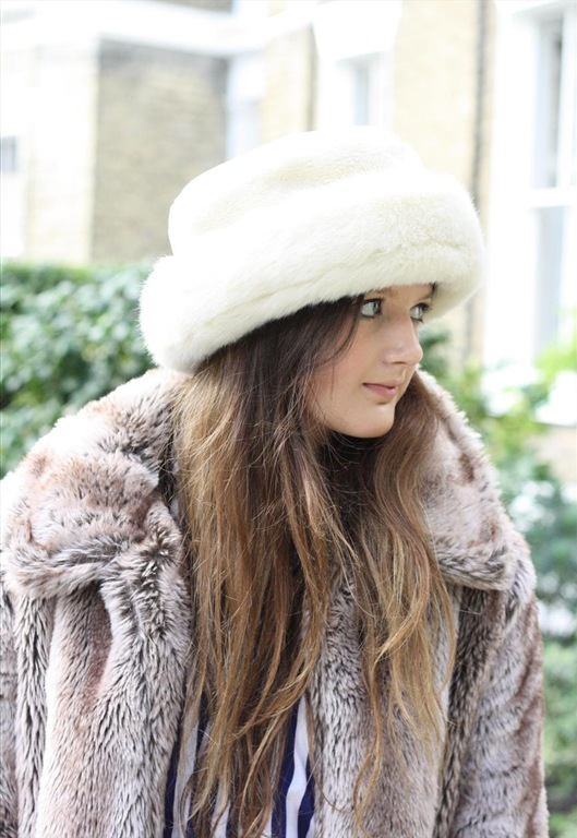 80's White Faux Fur Hat, £16, Bohemian Rose Vintage