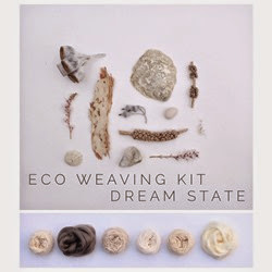 Plant dyed yarns and their natural inspiration for Eco Weaving Kit by Alchemy - Dream State pack