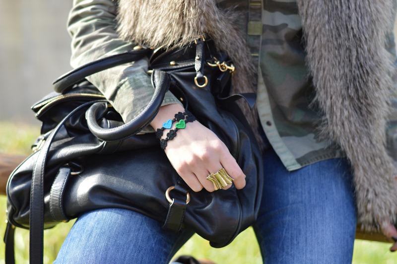 Sisley, pelliccia Sisley, miu miu bag, borsa miu miu nera, borsa miu miu con fiocchi, fashion blogger, italian fashion blogger, fashion blogger italiane, fashion blogger firenze, outfit, easy outfit, timberland, timberland boots, zara shirt, army, rifle jeans, elisa taviti, my fantabulous world