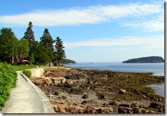 View along Shore Path in Bar Harbor