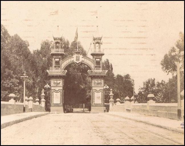 Feria de Julio. Arco de entrada. 1895