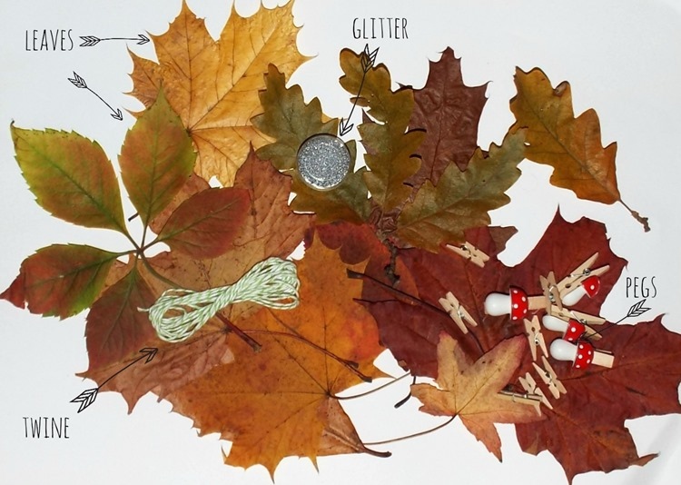 How to leaf garland with glitter