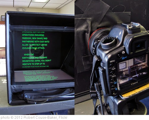 'DIY teleprompter' photo (c) 2012, Robert Couse-Baker - license: https://creativecommons.org/licenses/by/2.0/