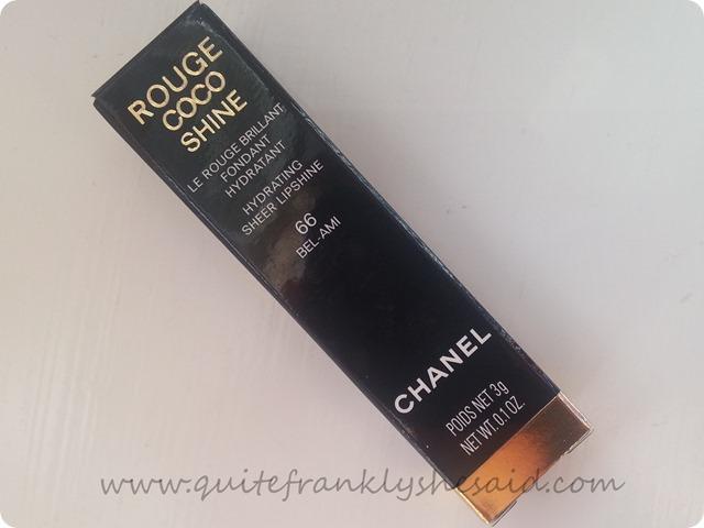 Chanel Rouge Coco Shine lipstick 66 Bel-Ami