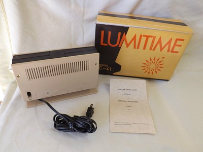 Lumitime C-41 clock with box