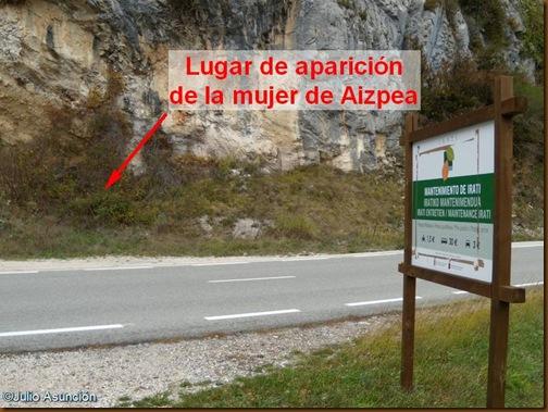 Lugar de aparición de la mujer prehistórica de Aizpea - Aribe