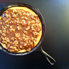 Buttermilk Skillet Cake with Walnut Praline Topping